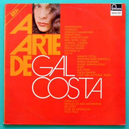 LP GAL COSTA ARTE DE 1975 FOLK TROPICALIA PSYCH BOSSA BRAZIL