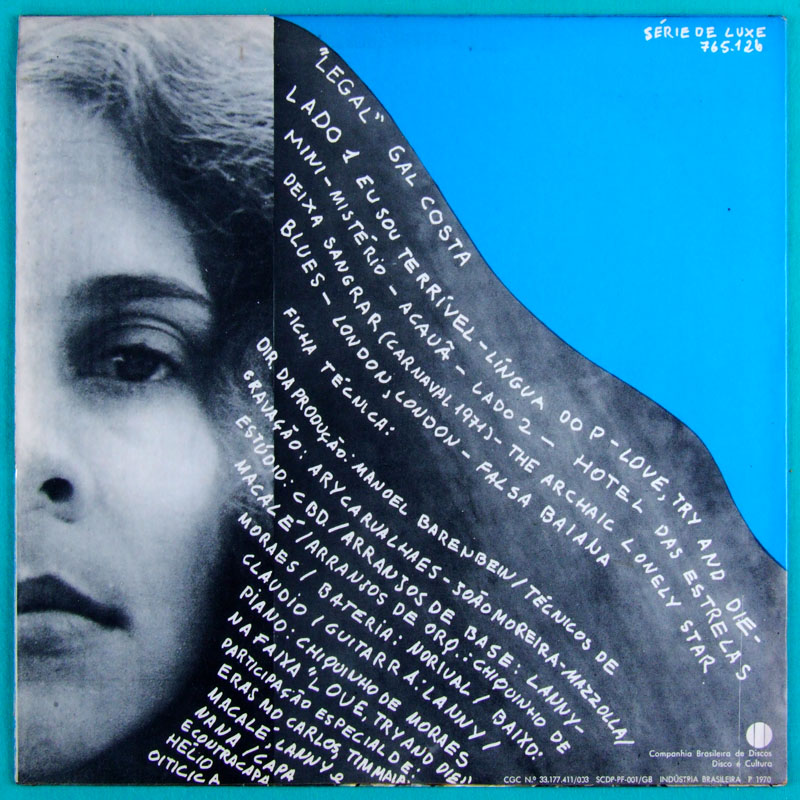 LP GAL COSTA LEGAL 1970 TROPICALIA PSYCH BOSSA BRAZIL