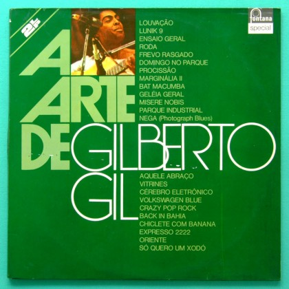 LP GILBERTO GIL A ARTE DE 1975 TROPICALIA PSYCH BOSSA BRASIL