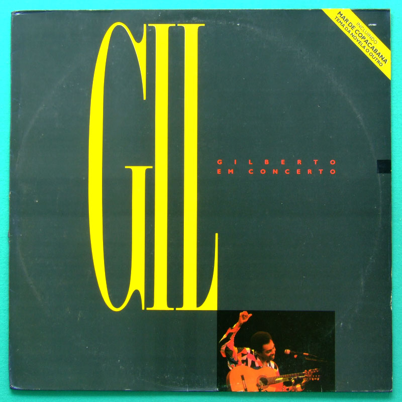 LP GILBERTO GIL EM CONCERTO 1987 FOLK PSYCH BOSSA BRASIL