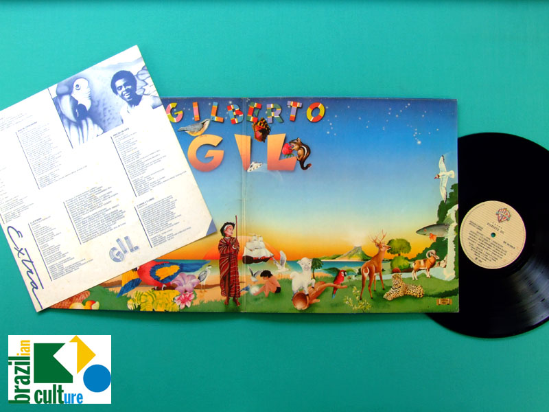 LP GILBERTO GIL EXTRA TROPICALIA 1983 PSYCH BOSSA BRASIL