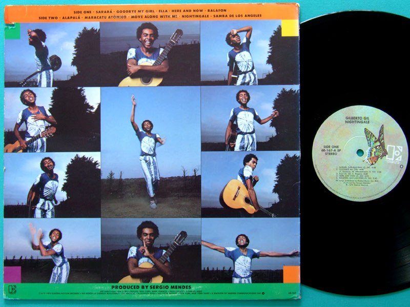 LP GILBERTO GIL NIGHTINGALE 1979 SERGIO MENDES BRASIL USA