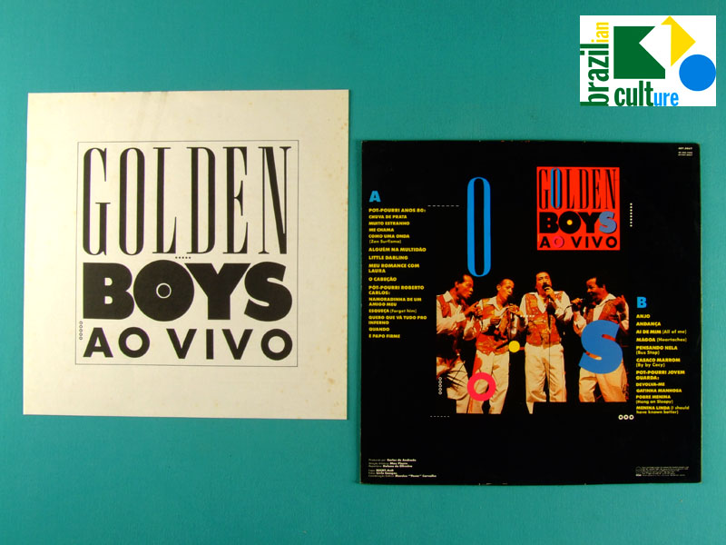 LP GOLDEN BOYS AO VIVO 1991 CHOIR BEAT FOLK VOCAL BRAZIL