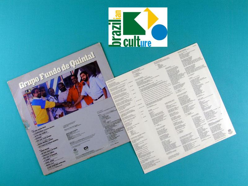LP GRUPO FUNDO DE QUINTAL DO FUNDO DO NOSSO QUINTAL 1987 SAMBA FOLK BRAZIL