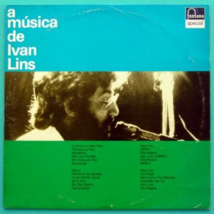 LP IVAN LINS A MUSICA DE 1978 FOLK BOSSA NOVA GROOVE BRAZIL