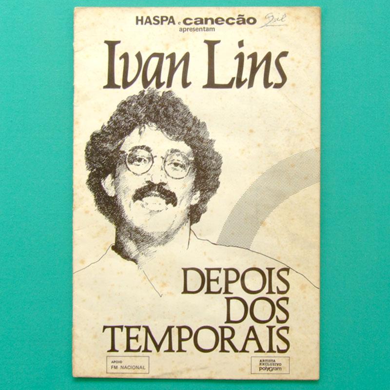 LP IVAN LINS DEPOIS TEMPORAIS 1983 PROGRAM OF SHOW BRAZIL