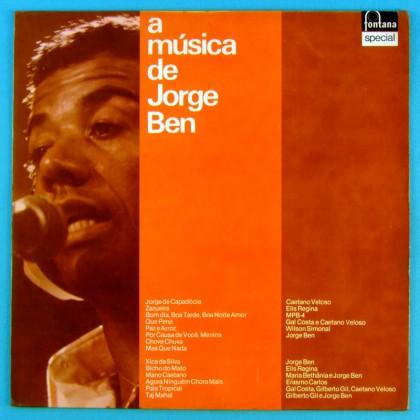 LP JORGE BEN A MUSICA DE 1977 FUNK SAMBA SOUL BRAZIL