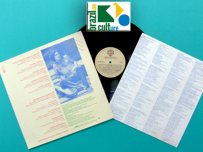 LP JORGE MAUTNER BOMBA DE ESTRELAS 1981 CAETANO GIL FOLK PSYCH CULT BRAZIL