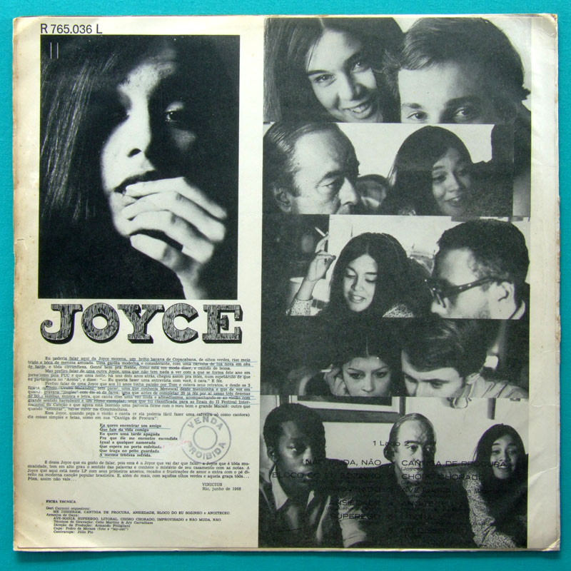 LP JOYCE 1ST 1968 1ST PRESS RARE FOLK BOSSA JAZZ BRAZIL