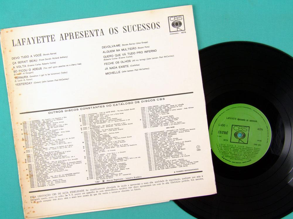 LP LAFAYETTE APRESENTA OS SUCESSOS BEAT FOLK 1966 BRAZIL