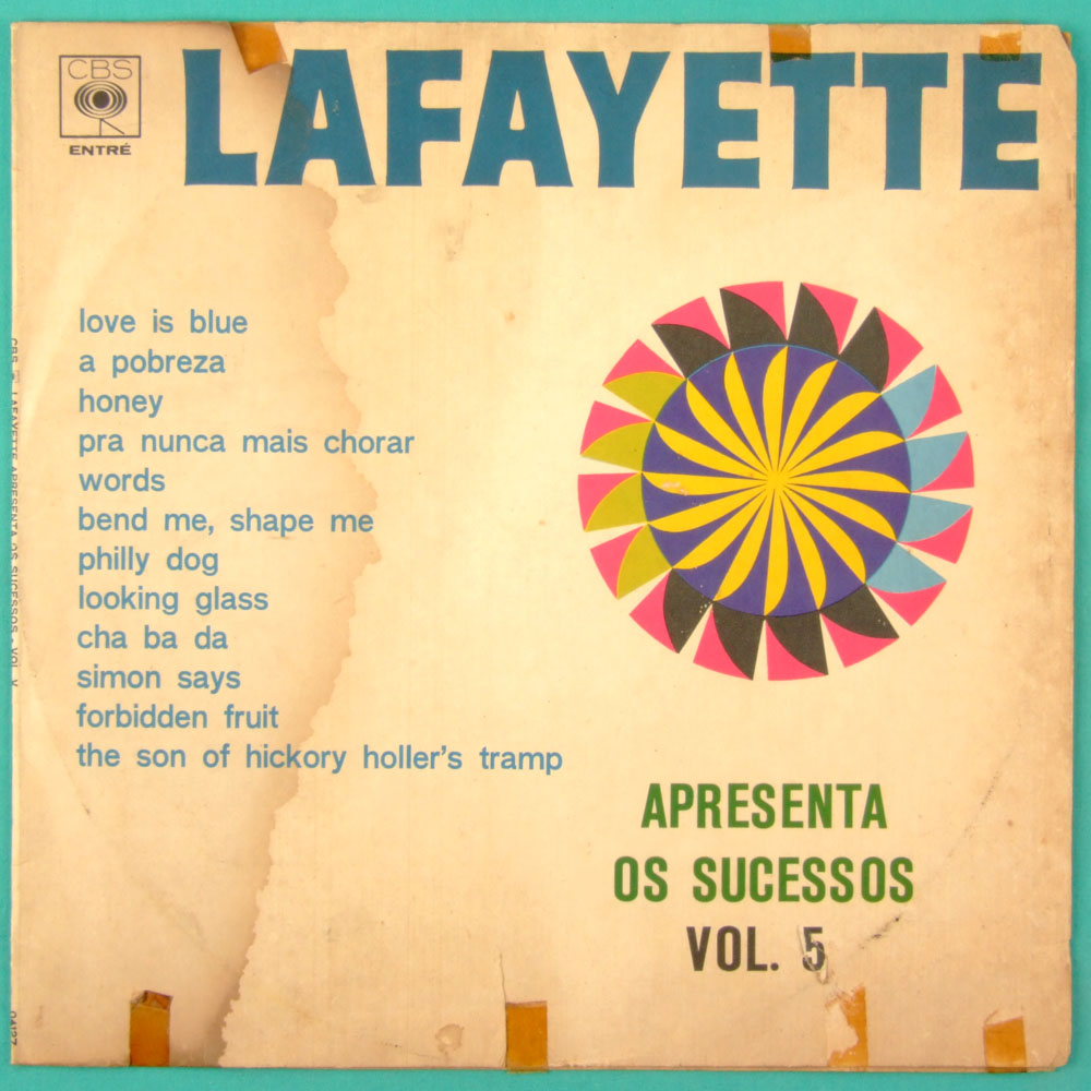 LP LAFAYETTE APRESENTA OS SUCESSOS VOL V 1968 BEAT GARAGE BRAZIL