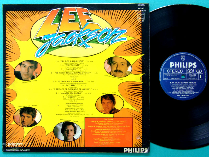 LP LEE JACKSON ERA DOS SUPER HEROIS 1979 ROCK GROOVE BRAZIL