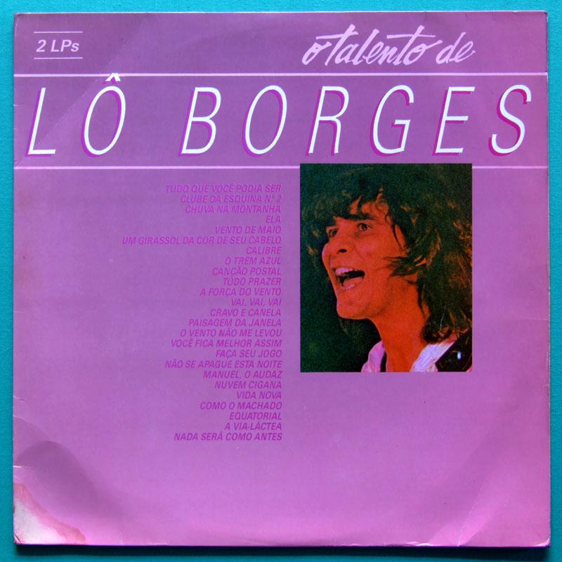 LP LO BORGES O TALENTO DOUBLE MINAS JAZZ FOLK BRAZIL