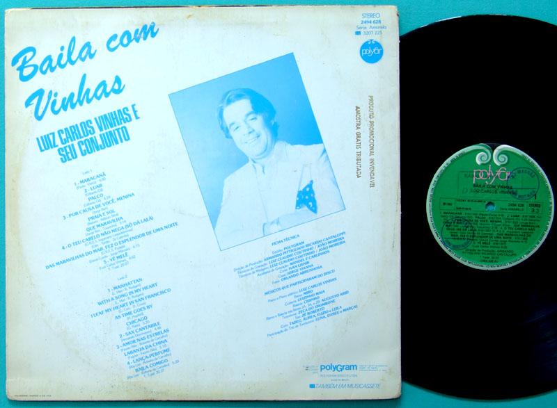 LP LUIZ CARLOS VINHAS BAILA COM VINHAS 1982 BOSSA JAZZ BRAZIL