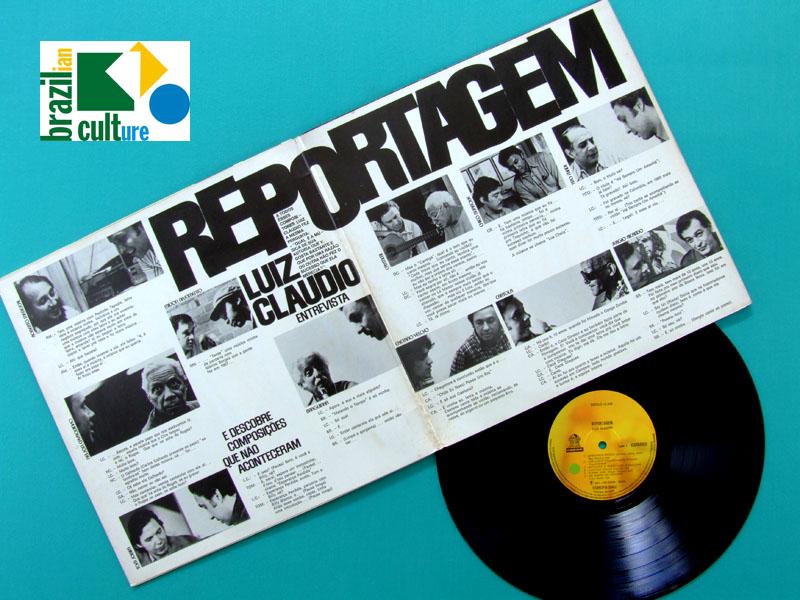 LP LUIZ CLAUDIO REPORTAGEM 1975 TOM JOBIM CAETANO VELOSO CAYMMI CARTOLA MENESCAL BRAZIL