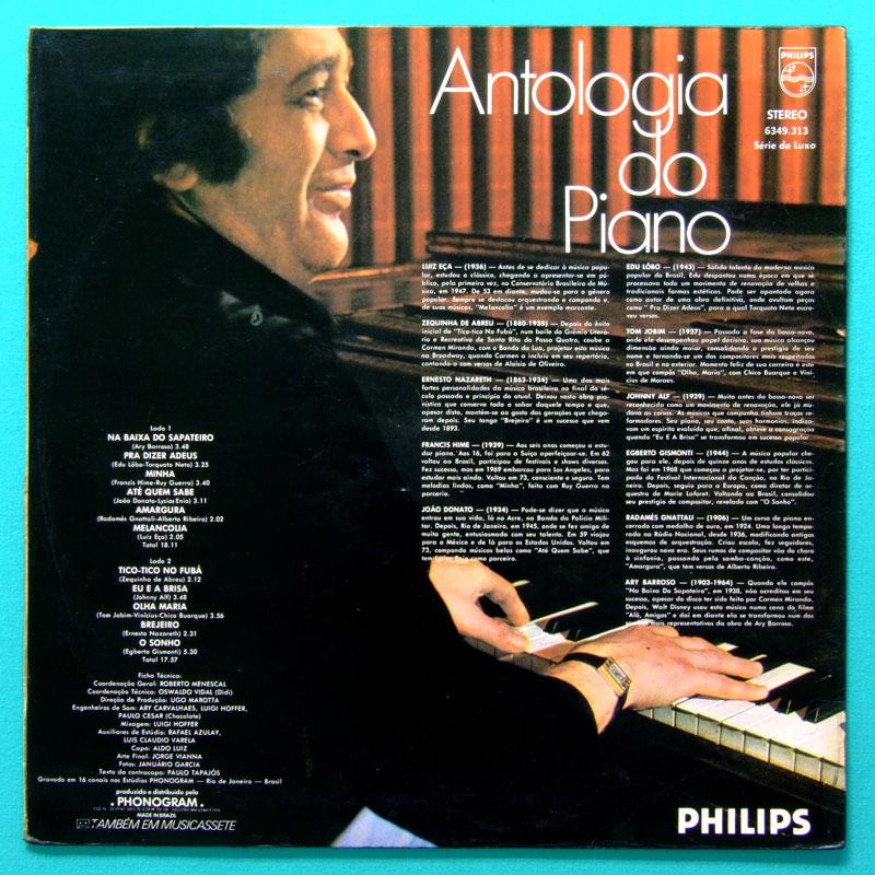 LP LUIZ ECA ANTOLOGIA DO PIANO 1976 MENESCAL BOSSA BRAZIL