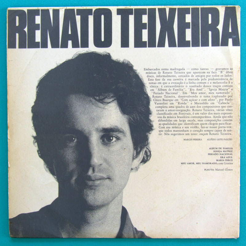 LP MARANHAO RENATO TEIXEIRA 1969 REGIONAL FOLK JOGRAL MARCUS PEREIRA DISCOS BRAZIL