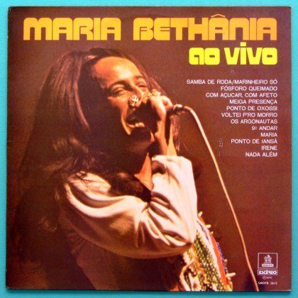 LP MARIA BETHANIA AO VIVO 1970 MONO BOSSA SAMBA BRAZIL