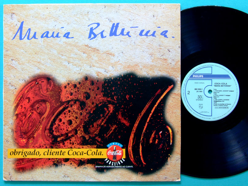 LP MARIA BETHANIA 1993 SPECIAL PROMOTIONAL EDITION BY COCA-COLA BOSSA FOLK JAZZ BRAZIL