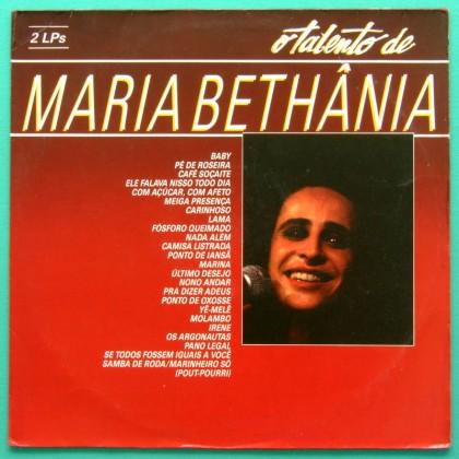 LP MARIA BETHANIA O TALENTO DE BOSSA JAZZ SAMBA 2-LPs BRAZIL