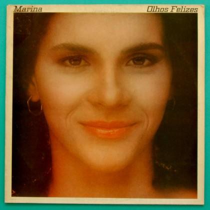LP MARINA OLHOS FELIZES 1980 ROCK POP FOLK BOSSA BRAZIL