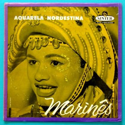 LP MARINES AQUARELA NORDESTINA DEBUT 1959 REGIONAL BAIAO BRAZIL