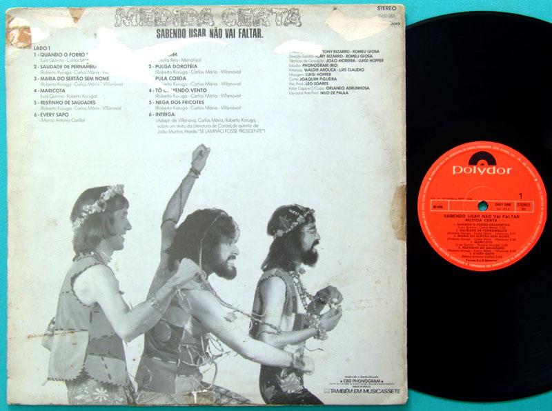 LP MEDIDA CERTA SABENDO USAR NAO VAI FALTAR 1975 FOLK BRAZIL