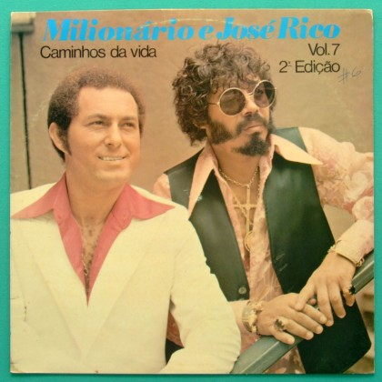 LP MILIONARIO E JOSE RICO CAMINHOS DA VIDA VOL 7 1979 FOLK BRAZIL