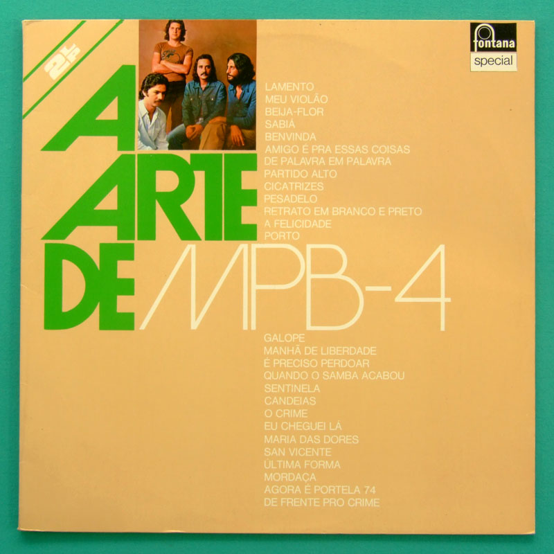 LP MPB-4 A ARTE DE MPB4 1976 SAMBA BOSSA NOVA FOLK BRAZIL
