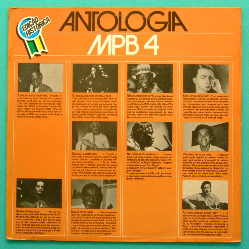 LP MPB-4 MPB4 ANTOLOGIA 1985 SAMBA BOSSA NOVA FOLK BRAZIL