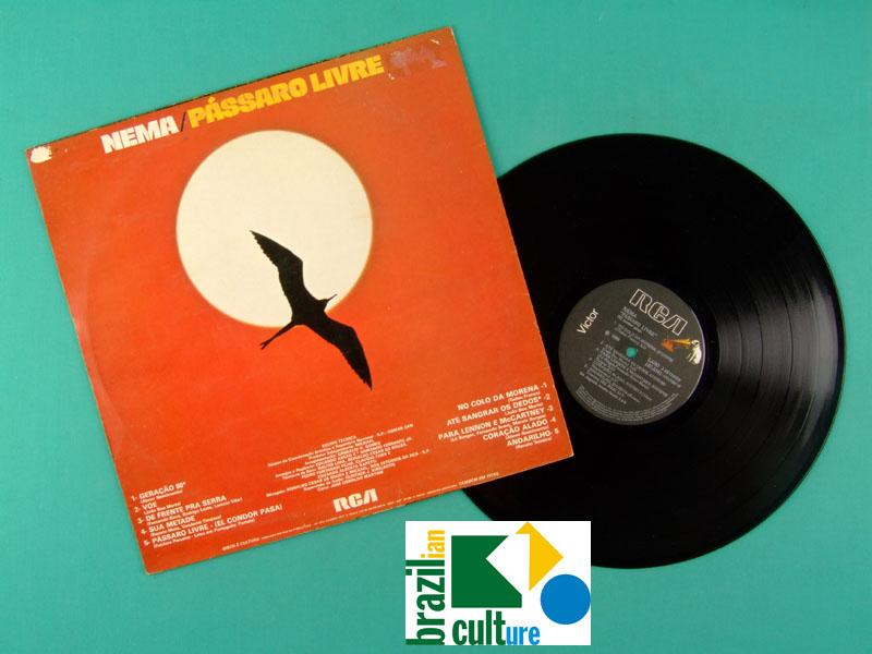 LP NEMA PASSARO LIVRE 1980 FOLK LATIN BOSSA MEDUSA BRAZIL