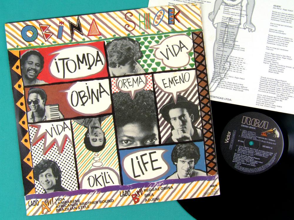 LP OBINA SHOK GILBERTO GIL GAL COSTA 1986 REGGAE BRAZIL