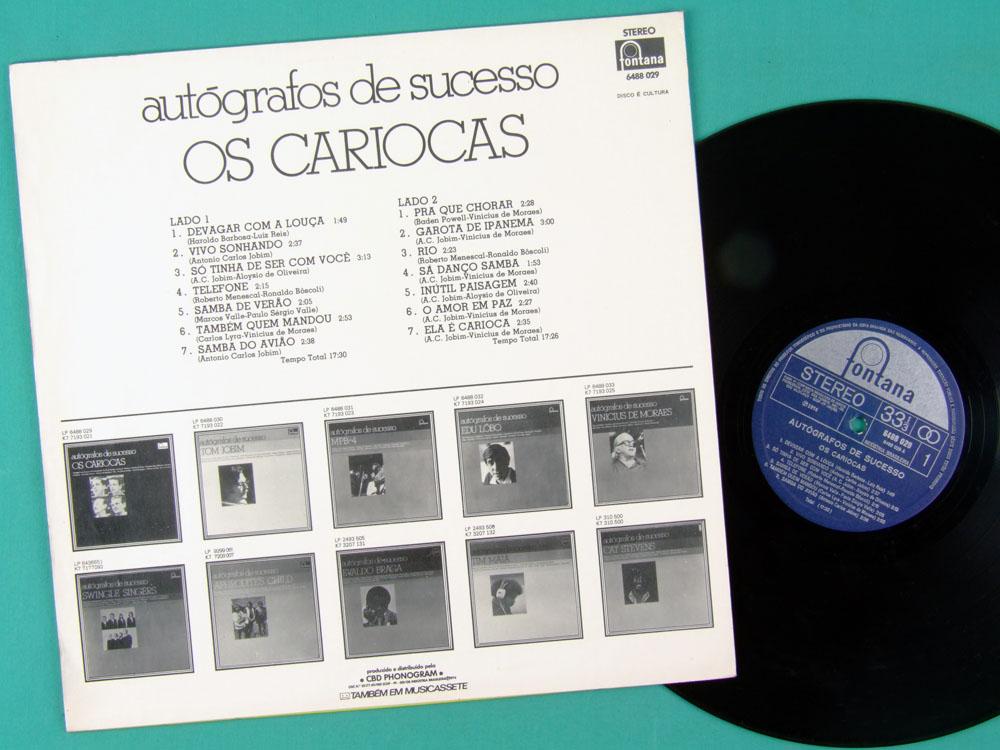 LP OS CARIOCAS AUTOGRAFOS DE SUCESSO SAMBA BOSSA BRAZIL