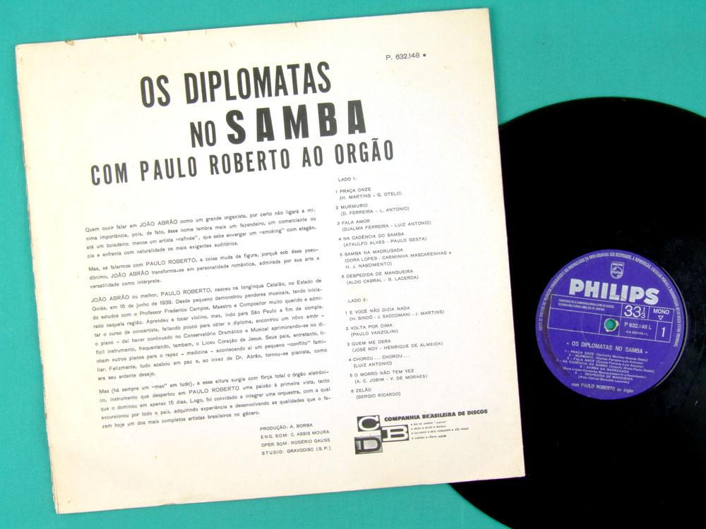 LP OS DIPLOMATAS DO SAMBA PAULO ROBERTO BOSSA BRAZIL