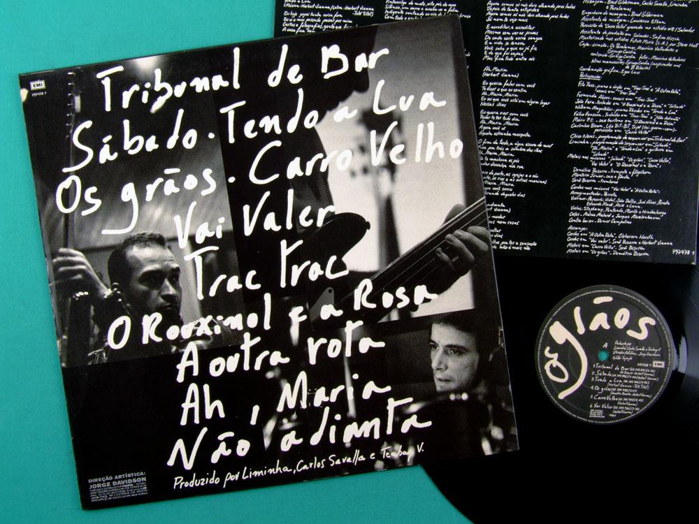 LP OS PARALAMAS DO SUCESSO OS GRAOS 1991 ROCK FOLK BRAZIL