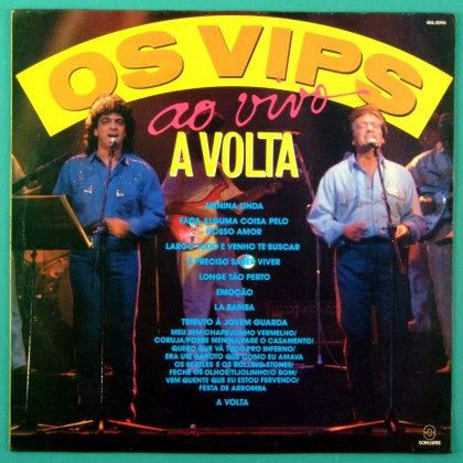 LP OS VIPS A VOLTA 1990 - FOLK JOVEM GUARDA ROCK BRAZIL