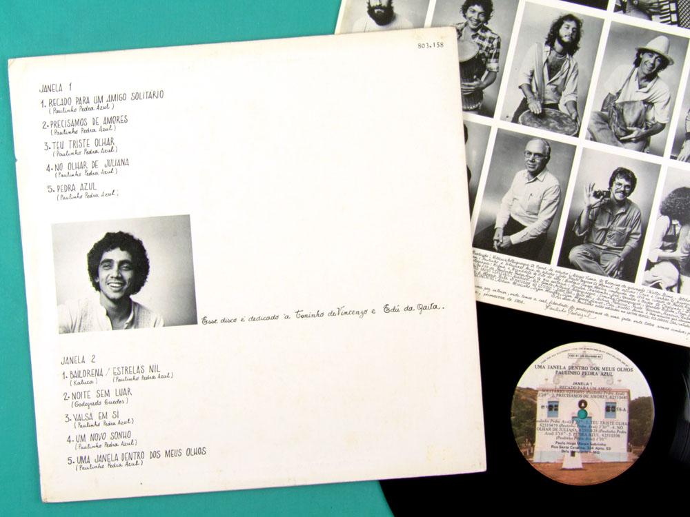 LP PAULINHO PEDRA AZUL DENTRO DOS MEUS OLHOS 1984 BRAZIL