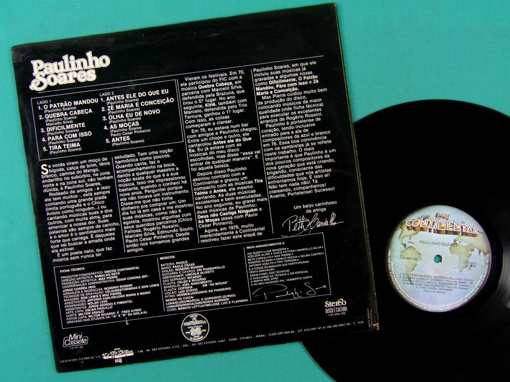 LP PAULINHO SOARES 1978 FOLK BOSSA NOVA SAMBA BRAZIL