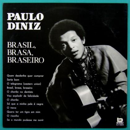 LP PAULO DINIZ BRASIL BRASA BRASEIRO 1970 FOLK SOUL BRAZIL