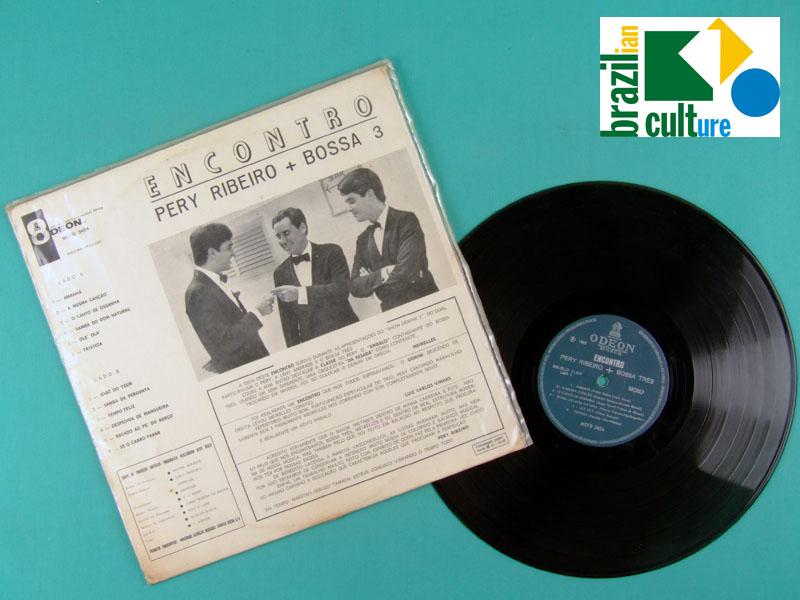 LP PERY RIBEIRO + BOSSA 3 ENCONTRO 1966 BOSSA JAZZ BRAZIL