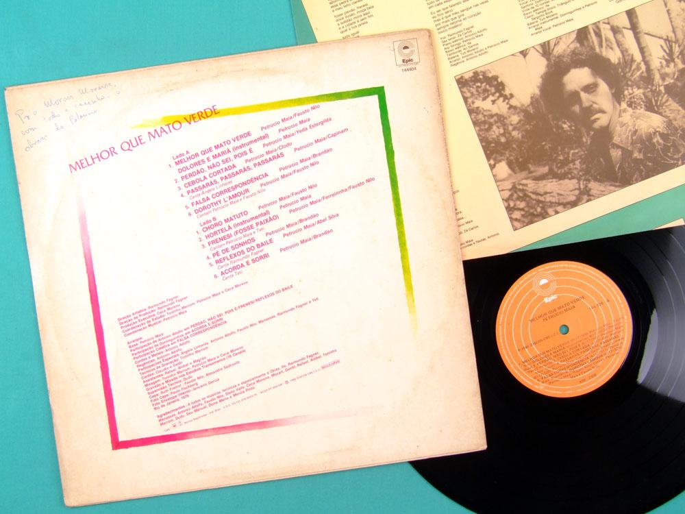 LP PETRUCIO MAIA MELHOR QUE MATO VERDE 1980 TETI FAGNER DOMINGUINHOS FOLK BRAZIL