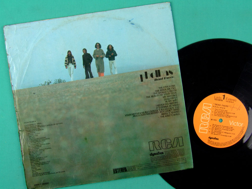 LP PHOLHAS DEAD FACES 1973 DEBUT  BEAT ROCK PSYCH PROG OBSCURE CULT POP FOLK EXP BRAZIL