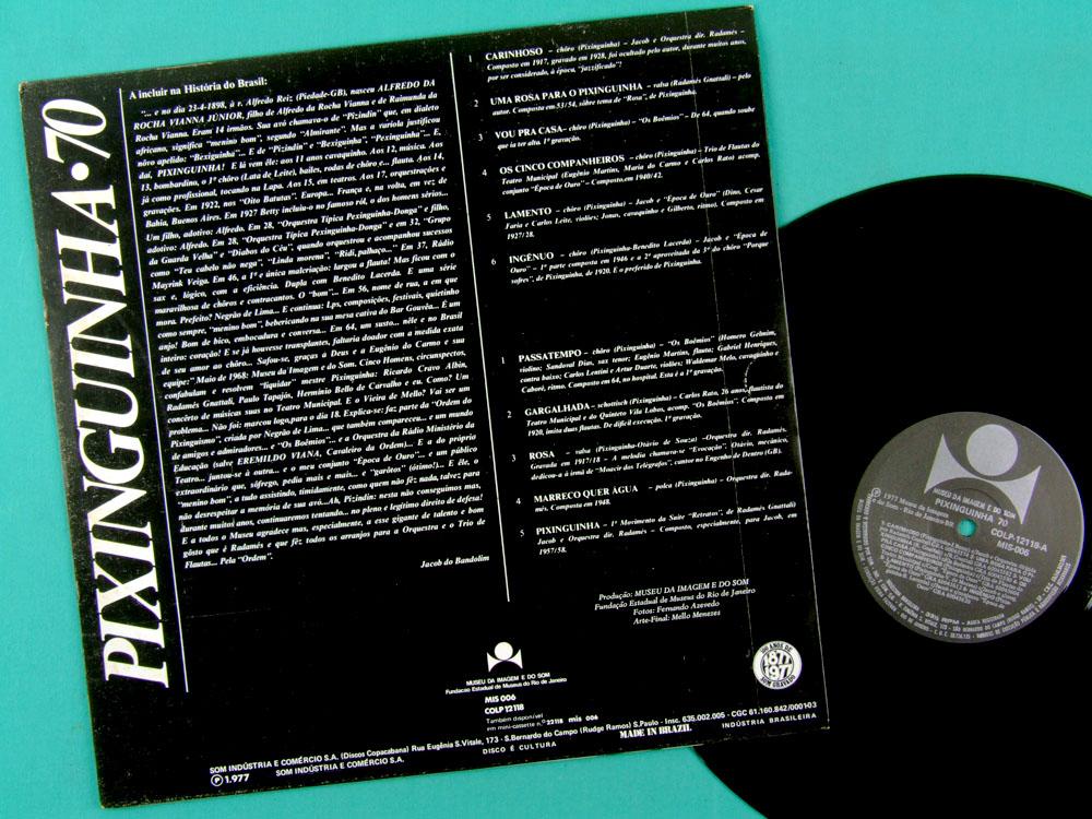 Lp Pixinguinha 70 Aniversario1968 1977 Samba Choro Brazil