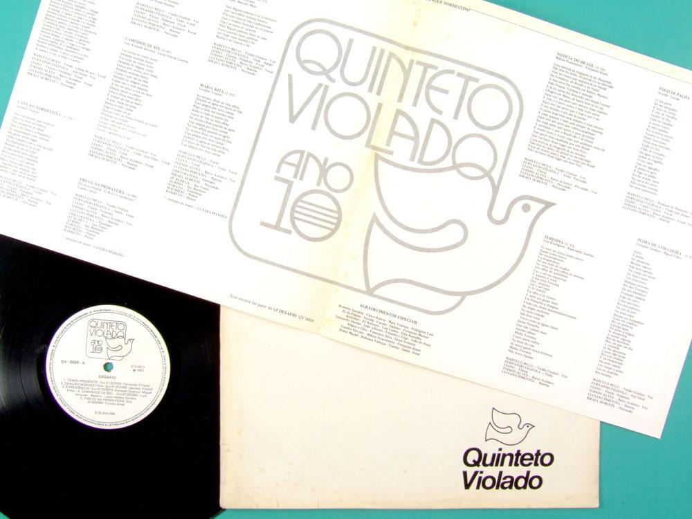 LP QUINTETO VIOLADO DESAFIO 1981 REGIONAL FOLK BRAZIL
