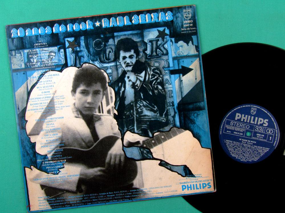 LP RAUL SEIXAS 20 ANOS DE ROCK 1975 FOLK GARAGE PSYCH BRAZIL