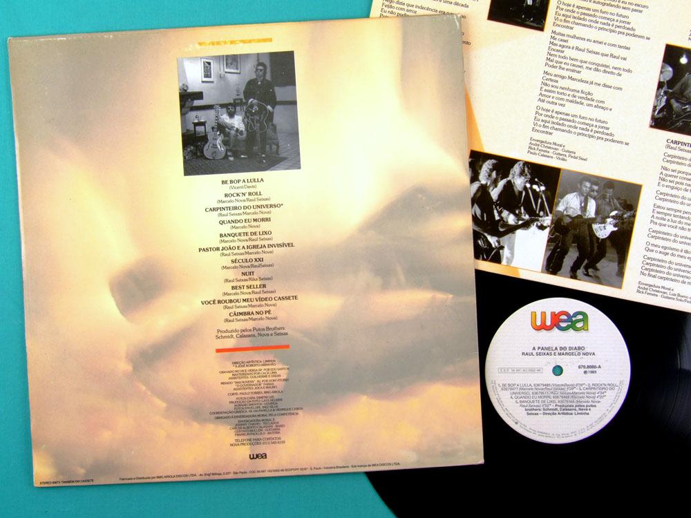 LP RAUL SEIXAS MARCELO NOVA A PANELA DO DIABO 1989 BRAZIL