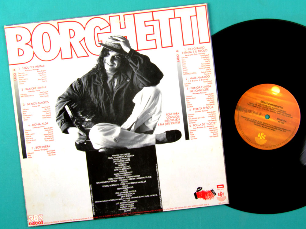 LP RENATO BORGHETTI 1993 REGIONAL JAZZ FOLK SOUTH BRAZIL