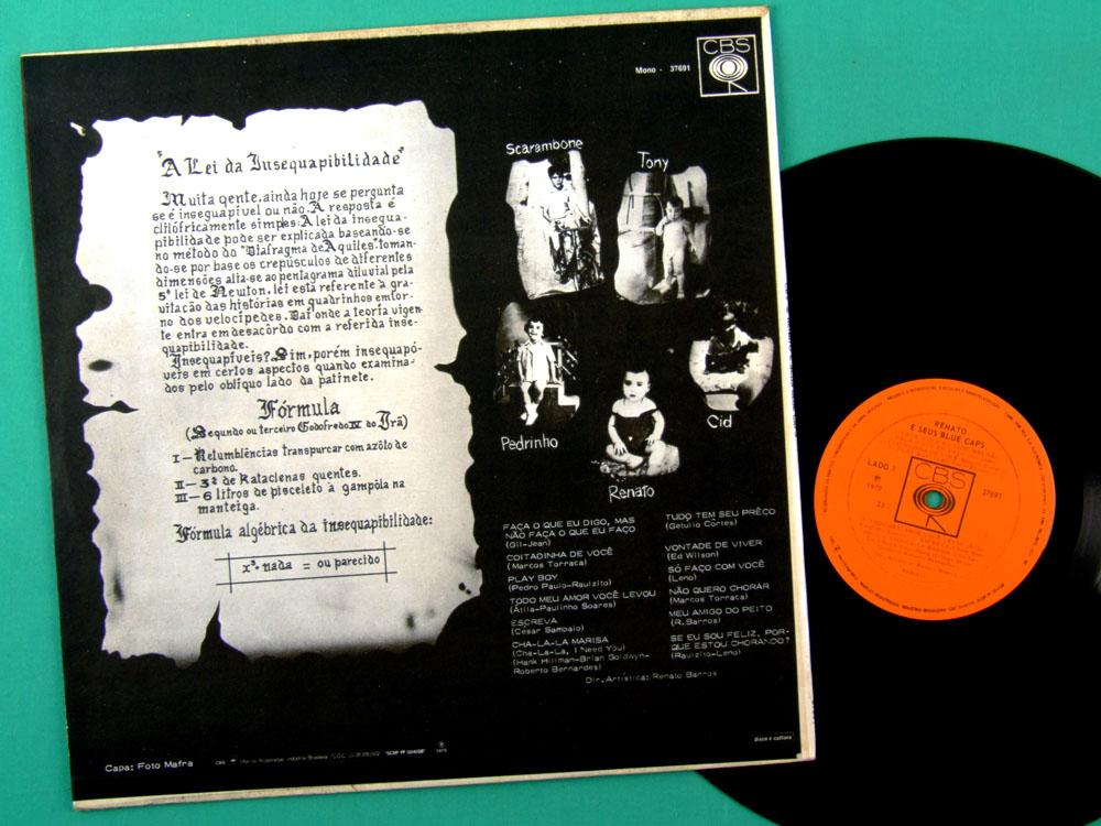 LP RENATO E SEUS BLUE CAPS 1970 MONO RAUL SEIXAS PSYCH FOLK BRAZIL