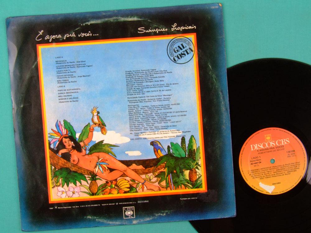 LP ROBERTINHO DO RECIFE E AGORA PRA VOCES 1979 GAL COSTA BRAZIL