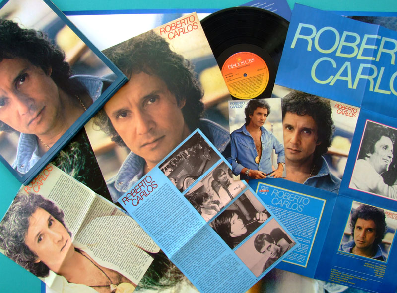 LP ROBERTO CARLOS KIT FOLK ROCK BEAT LATIN PRIVATE PROMO UNIQUE BOXED SET BRAZIL